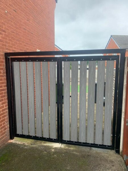 Composite decking as fencing